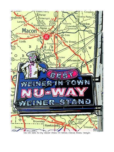 Nu Way Weiner Macon--Art Print