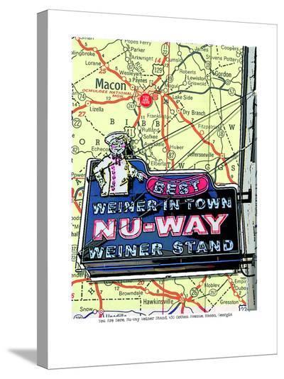 Nu Way Weiner Macon--Stretched Canvas Print