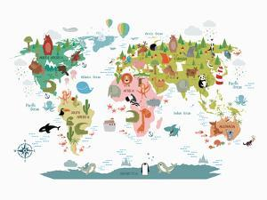 Animals World Map by NUADA