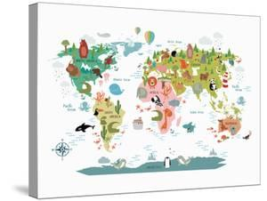 Animals World Map by NUADA