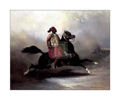 Nubian Horseman at a Gallop-Alfred De Dreux-Art Print