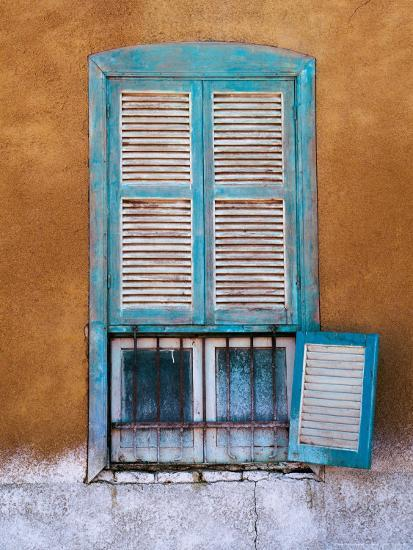 Nubian Window in a Village Across the Nile from Luxor, Egypt-Tom Haseltine-Photographic Print