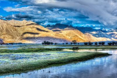Nubra River in Nubra Valley in Himalayas-f9photos-Photographic Print