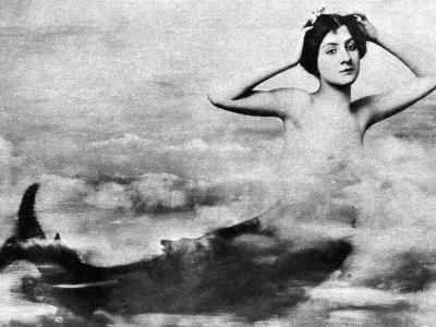 Nude As Mermaid, 1890S--Photographic Print