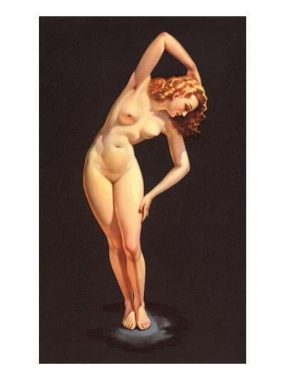 Nude Doing Calisthenics--Art Print