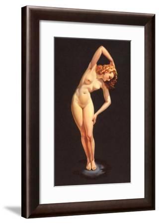 Nude Doing Calisthenics--Framed Art Print