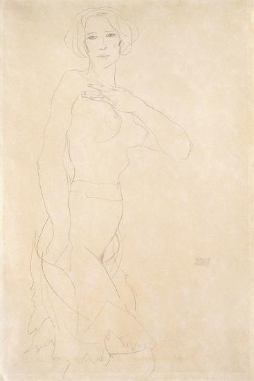 Nude Female, 1912-Egon Schiele-Giclee Print