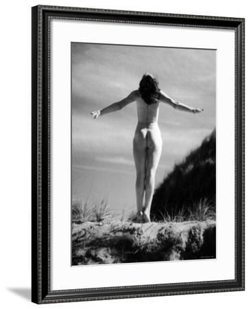 Nude Female Seen from the Back--Framed Photographic Print