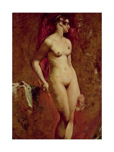 Nude Female Standing-William Etty-Giclee Print