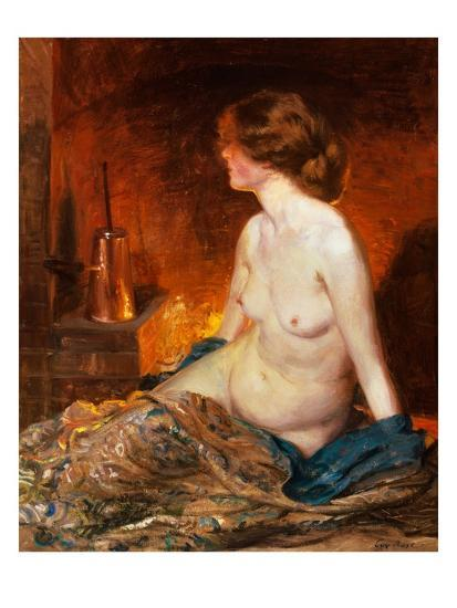 Nude Figure by Firelight-Guy Rose-Giclee Print