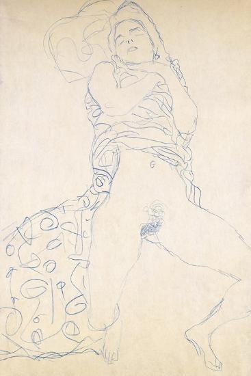 Nude; Halbakt, 1913 (Nude; Halbakt Gustav Klimt (1862-1918))-Gustav Klimt-Giclee Print