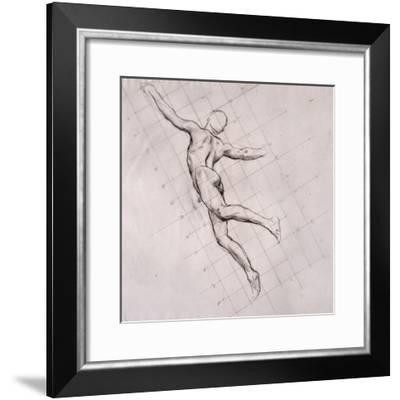Nude in Action-John Singer Sargent-Framed Giclee Print