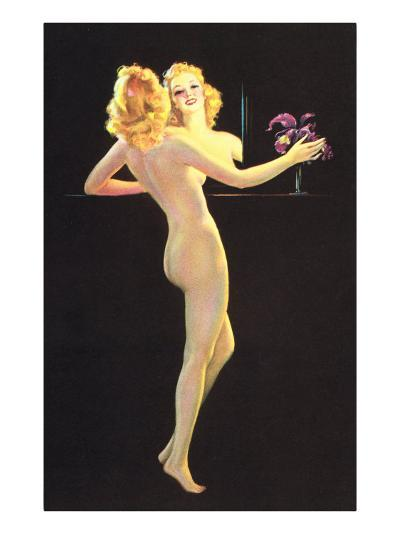 Nude in Front of Mirror--Art Print