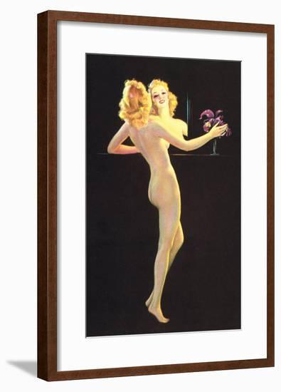 Nude in Front of Mirror--Framed Art Print