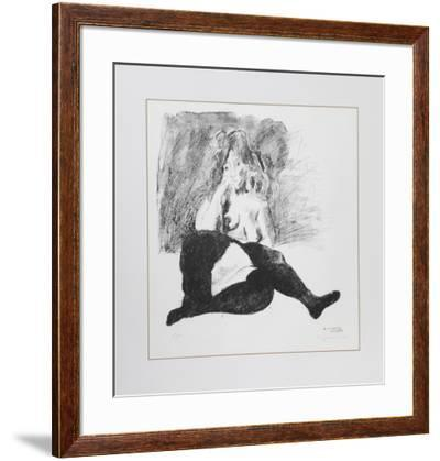 Nude in Tights-Raphael Soyer-Framed Limited Edition