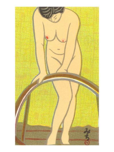 Nude Japanese Woman, Drawing--Art Print