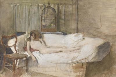 Nude on a Sofa, 1980-John Ward-Giclee Print