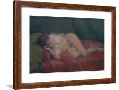 Nude on Red and Green, 2009-Pat Maclaurin-Framed Giclee Print
