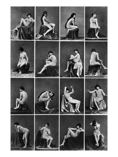 Nude Posing, C1875--Photographic Print