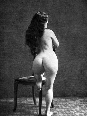 Nude Posing: Rear View--Photographic Print