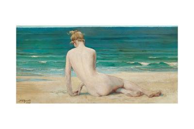 Nude Seated on the Shore, 1888-John Reinhard Weguelin-Giclee Print