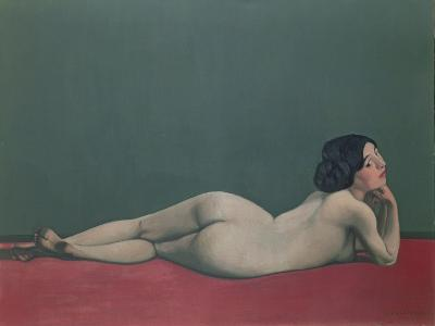 Nude Stretched Out on a Piece of Cloth, 1909-F?lix Vallotton-Giclee Print