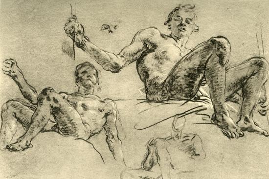 'Nude Studies', mid 18th century, (1928)-Giovanni Battista Tiepolo-Giclee Print