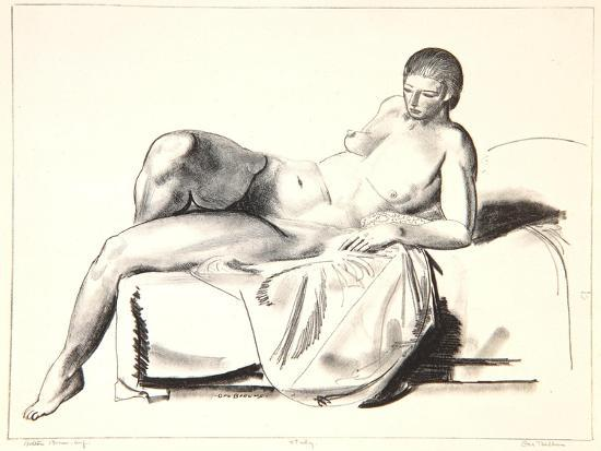 Nude Study, Classic on a Couch, 1923-24-George Wesley Bellows-Giclee Print