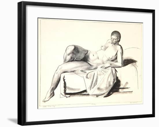 Nude Study, Classic on a Couch, 1923-24-George Wesley Bellows-Framed Giclee Print