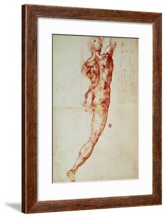 Nude, Study for the Battle of Cascina-Michelangelo Buonarroti-Framed Giclee Print
