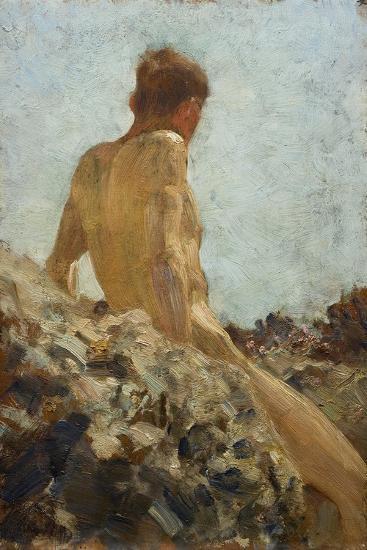 Nude Study-Henry Scott Tuke-Giclee Print