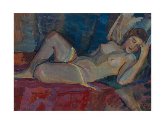 Nude. the Zone of Venus, 1919-Nikolai Pavlovich Ulyanov-Giclee Print