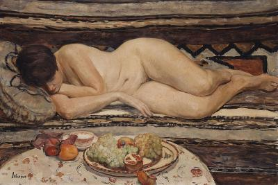 Nude with a Bowl of Fruit-Henri Lebasque-Giclee Print