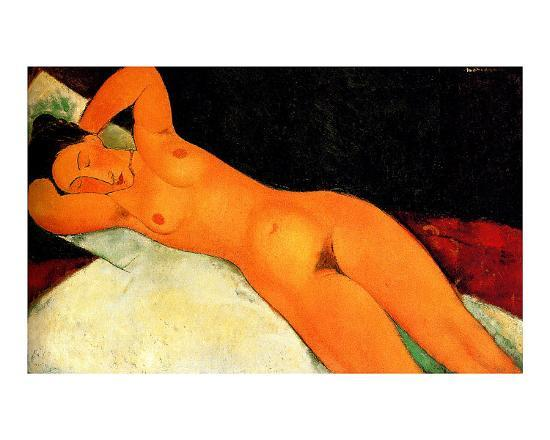 Nude with Necklace-Amedeo Modigliani-Giclee Print