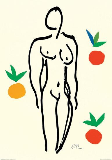 Nude with Oranges-Henri Matisse-Art Print