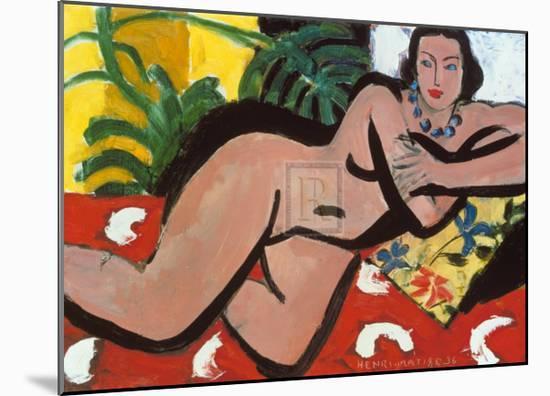 Nude with Palms, c.1936-Henri Matisse-Mounted Art Print