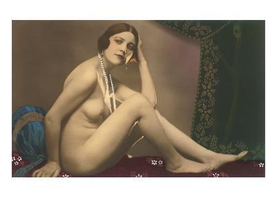 Nude with Pearls--Art Print