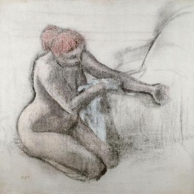 Nude Woman Drying Herself after the Bath, C.1898-Edgar Degas-Giclee Print