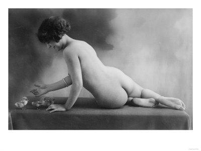 French nude black and white