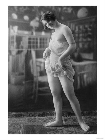 Nude Woman French Art Nouveau Lingerie Photograph No.10 - France-Lantern Press-Art Print