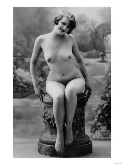 Nude Woman French Art Nouveau Photograph No.4 - France-Lantern Press-Art Print