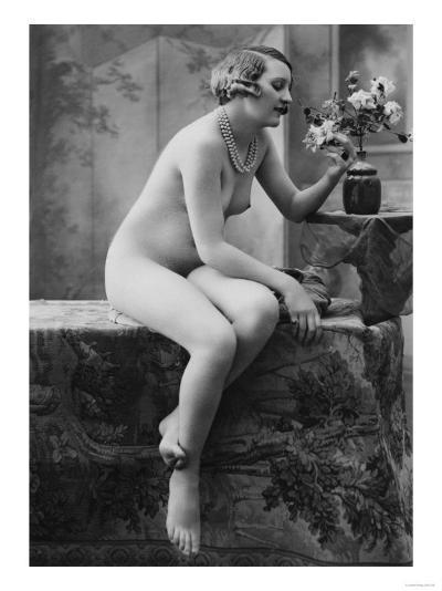 Nude Woman French Art Nouveau Photograph No.5 - France-Lantern Press-Art Print