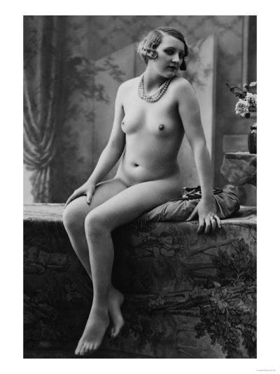 Nude Woman French Art Nouveau Photograph No.7 - France-Lantern Press-Art Print