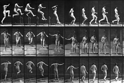 Nude Woman Hurdling