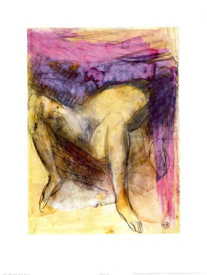 Nude Woman on her Back with Legs Apart-Auguste Rodin-Art Print