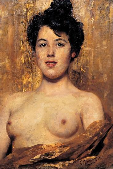 Nude-Cesare Tallone-Art Print