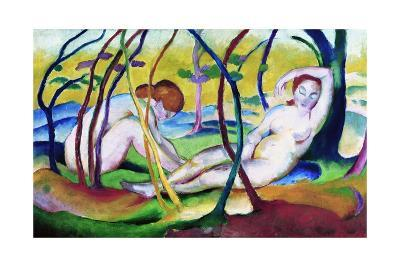 Nudes under Trees-Franz Marc-Giclee Print