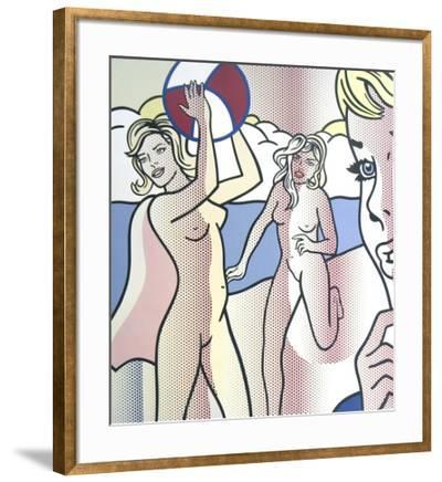Nudes with Beach Ball-Roy Lichtenstein-Framed Collectable Print