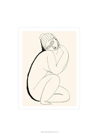 Nudo Seduto, c.1910-11-Amedeo Modigliani-Serigraph