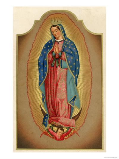 Nuestra Senora de Guadalupe Mexico Miraculously Imprinted--Giclee Print